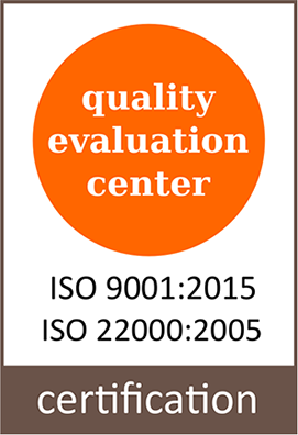 Certification iso 9001:2015, iso 22000:2015